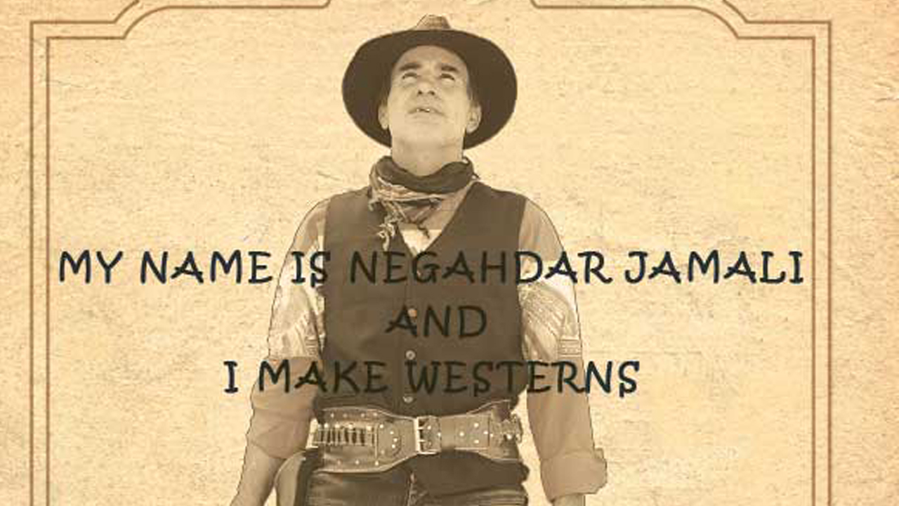 "Plakat ""My Name is Negahdar Jamali And I Make Westerners"" (Ausschnitt)"